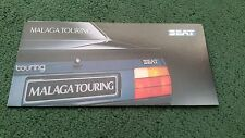 August 1988 /  1989 SEAT MALAGA TOURING Special Edition - UK SMALL BROCHURE