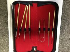 SNAKE PROBE SET 8 PIECE GOLD COLORED IN DELUXE CASE    2 SETS  THE SAME