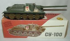 USSR WWII CY-100 DIE CAST TANK 1:43 SCALE BOX IS WORN MADE IN RUSSIA 1980s NIB