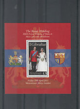 Gibraltar 2011 MNH Royal Wedding 1v Sheet Prince William Kate Middleton Marriage