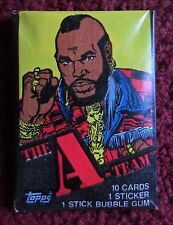 Unopened Pack THE A-TEAM TV Show Trading Cards ~ Mr T Wrapper