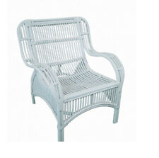 Arnie White Natural Rattan Arm Chair  - BRAND NEW