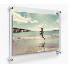A4 Acrylic Photo Frame Poster Wall Mount Picture Holder Perspex Clear Display