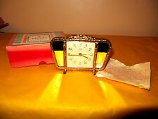 ART DECO REGENT OF LONDON CLOCK/ALARM CLOCK gold metal&mirrors, (0.2/120)