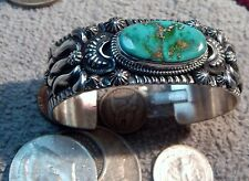 New Solid Sterling Silver Bracelet Cuff Pilot Mountain Turquoise Darryl Becenti
