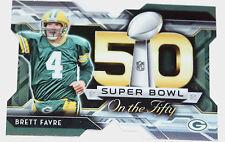 2015 Topps Chrome Football Super Bowl On The 50 #SBDC-BF Brett Favre