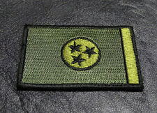 TENNESSEE STATE TN FLAG TACTICAL  MORALE oda green HOOK PATCH