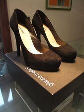Decoltè pelle scamosciata plateau black high heels Gianna Meliani 39 1/2