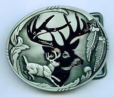 Gürtelschnalle Hirsch Buckle Deer Reh Jagd