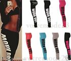 WOMEN'S SLIM FIT & PLUS SIZE  WORKOUT LOGO GYM YOGA LOVE FITNESS A LOT LEGGINGS
