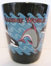 MARINE WORLD   ORCA WHALES COLORFUL  SHORT SHOT GLASS