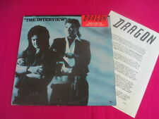 Dragon, rare radio promo only, interview Lp - Dreams Of Ordinary Men