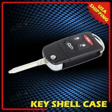 New Flip Key Fob Keyless Entry Remote Combo 4 Buttons For Dodge Jeep Chrysler