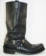 Double H H Mens Black Leather Riding Motorcyle Boot 12 M Domestic Harness