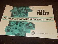 NOS 1978 FORD FIESTA ELECTRICAL VACUUM TROUBLESHOOTING EVTM MANUAL