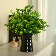 Green Fake Artificial Plant Plastic Flower Grass Bush Home Office Decor