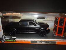 Jada Dodge Ram 1500 2014 Matte Black with extra set wheels Just Trucks 1/24