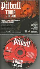 PITBULL & LIL JON Toma w/ RADIO & CLEAN & INSTRUMENTAL PROMO DJ CD Single 2004