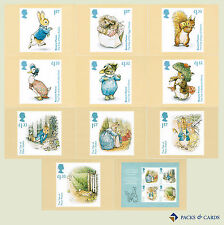 2016 Beatrix Potter PHQ 418 - Mint Cards (Set of 11 Royal Mail Post Cards)