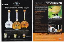 CORAZON 2005 tequila alcohol magazine ad print blue agave + recipe lobster tacos