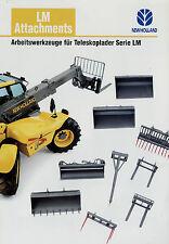 Prospekt New Holland LM Attachments Arbeitswerkzeuge Teleskoplader 1/02 2002