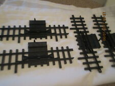New Bright G Scale Black Train Track Replacement Lot of 4 pieces Switch Tracks