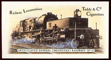 Articulated Express (Brazil Rail) #22 Railway Locomotives,Cigarettes Card (C145)
