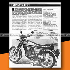 ★ ZUNDAPP KS 125 WK ★ 1979 Essai Moto / Original Road Test #a302