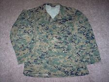 USMC US Marine Corps Digital MARPAT Woodland Camo Shirt SMALL-LONG