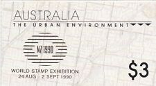 Australia 1989, SG SB 66, Urban Environment, Gold Overprint NZ 1990