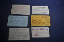 1966 Gentlemens?/Dance Club Cards San Antonio Texas *Farmers Daughter*Moby Dick*