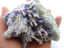 Fluorite Crystals on Barite after Laumontite  Buck Mine, Cripple Creek, Colorado