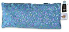 EYE PILLOW LAVENDER + Flax Seed Filled + Carry Bag. Silk Fabric & FREE medita...