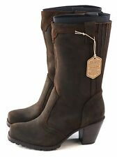 Woolrich Womens Mustang Western Boot Leather Brown Java Size 6.5 M US