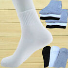 New 4/12 Pairs Men's Ankle/Quarter Crew Casual Cotton Sports Socks 3 Colors