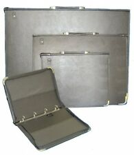 A1 DELUXE ARTISTS PRESENTATION PORTFOLIO RING BINDER HARD LEATHER LOOK PM-A1