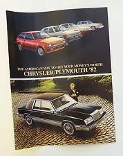 1982 Chrysler Plymouth Full Line Sales Brochure