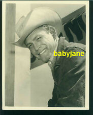 EARL HOLLIMAN VINTAGE 8X10 PHOTO HANDSOME COWBOY PORTRAIT DOUBLE WEIGHT