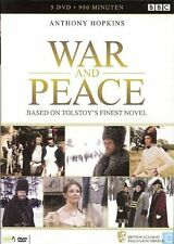 WAR AND PEACE : MINISERIES (Anthony Hopkins) 5 Disc  DVD - PAL & Region 2 - New