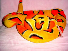 "54""-Yellow-Orange-Black Plush Fur Toy Long Stuffed Animal Reptile Corn Snake"