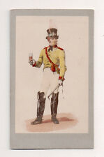 Vintage CDV Handpainted Man Baden Baden Germany Traditional National Costume