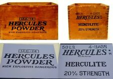 2 side Old Vintage Hercules Powder Crate Box Strength Airbrush Stencil Army Wood