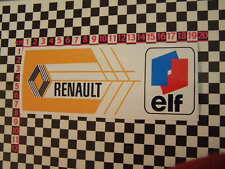 French Elf Rear Screen Decal Renault 10 12 14 16 17 5 4L 8 Alpine A310 A110