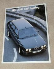 BMW 3 Series E30 Touring Brochure 1989 - 318I 320I 325I