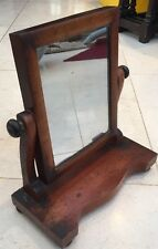 Antique Victorian Wood Free Standing Bathroom Table Mirror