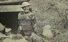 British Army Soldier Pet Magpie German Trench World War 1 7x4 Inch Reprint Photo