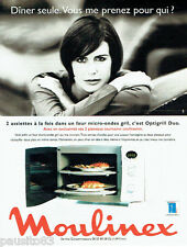 PUBLICITE ADVERTISING 046  1998  le micro-ondes gril Opigrill duo Moulinex