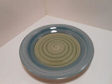 """Pier1 Hand Painted Stoneware Blue Green 7.5""""  Bread/Butter Plate - GC"""