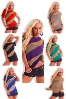 Sexy Women Clubbing Pullover Ladies Party Jumper Top Size 6 8 10 12 Blouse Shirt