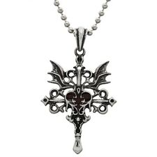 Old Glory Heart with Vampire Wings Pendant